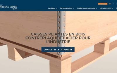 NOUVEAU site internet pour NO-NAIL BOXES !