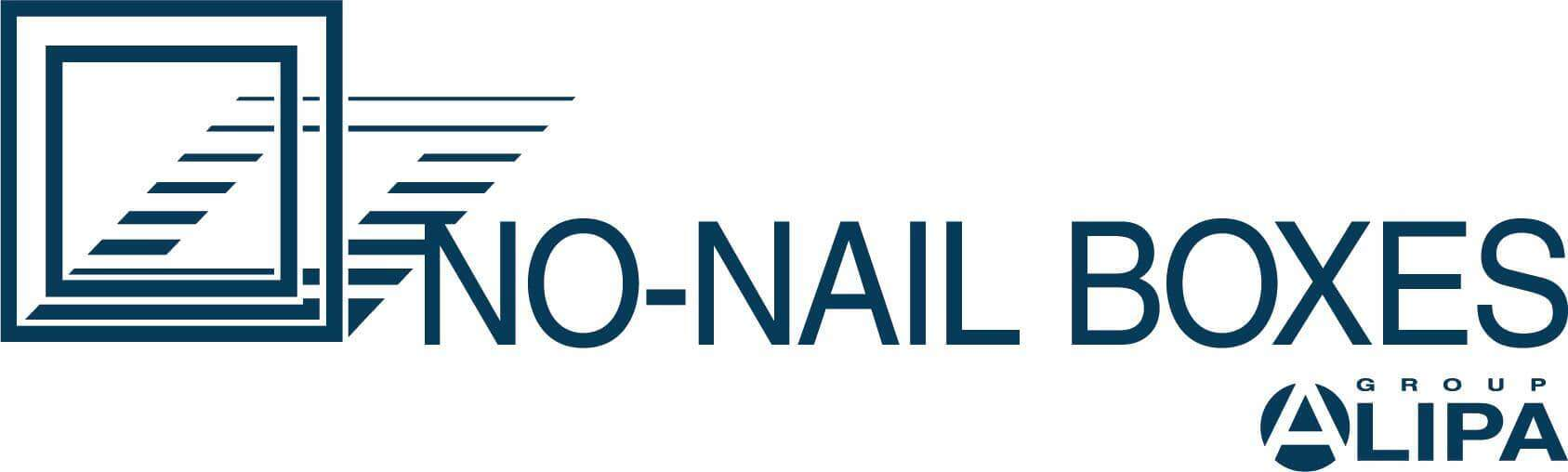 No-Nail Boxes logo print version