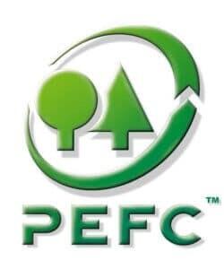 Le label PEFC atteste de l'engagement de NO-NAIL BOXES à produire des caisses pliantes en bois contreplaqué à partir de bois issu de forêts soumises à une gestion durable