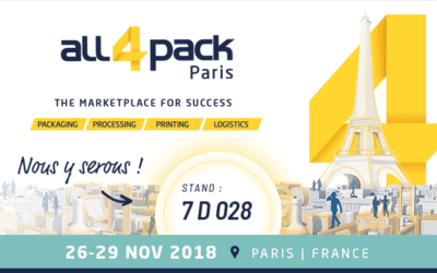 Nos emballages responsables au salon All4Pack de Paris du 26 au 29/11