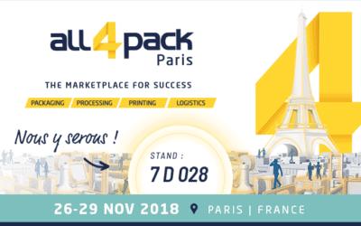 Nos emballages responsables au salon All4Pack de Paris du 26 au 29/11